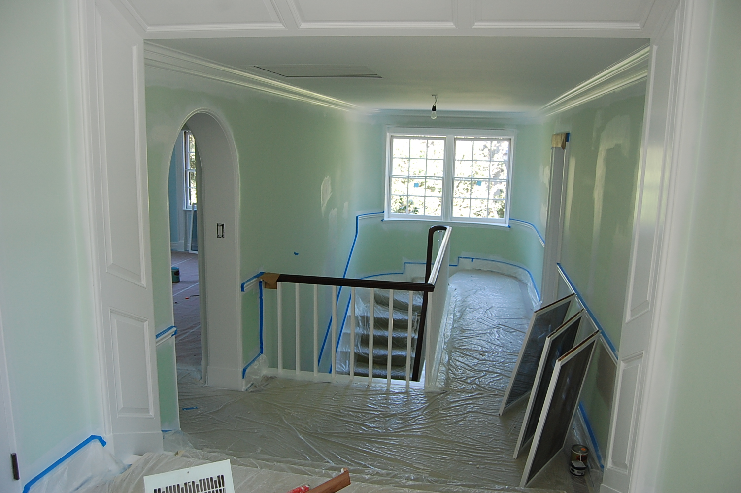 interior Painting 100 yer Old Mansion In Pasadena 10,000 sq ft House