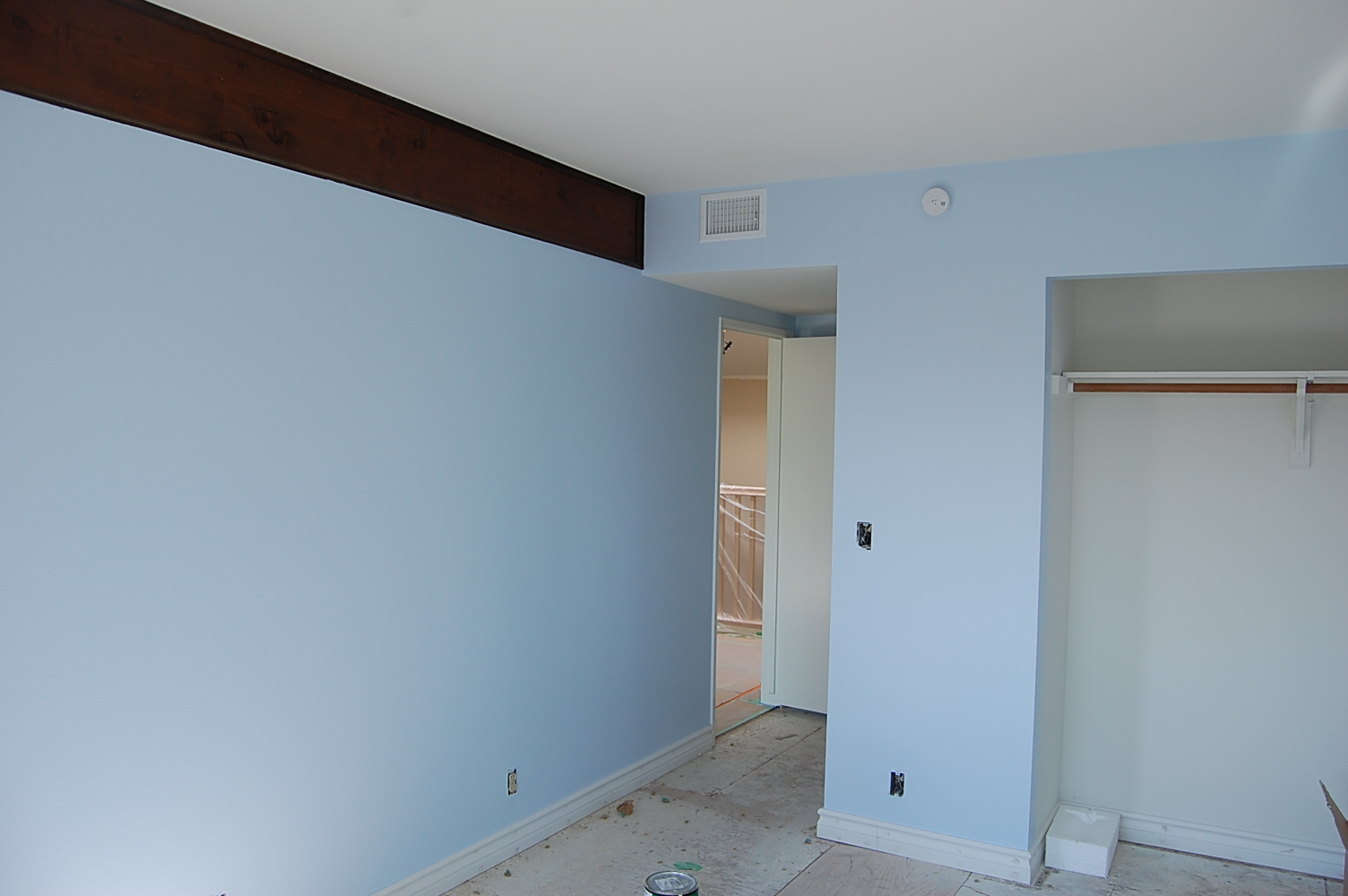 Bed Room Was Painted Blue Color By House Painting Company Contractors Los  Angeles