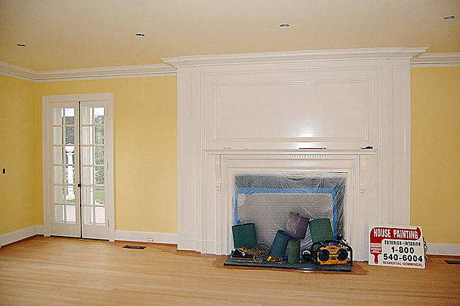Finished interior painting of house in Monterey Park